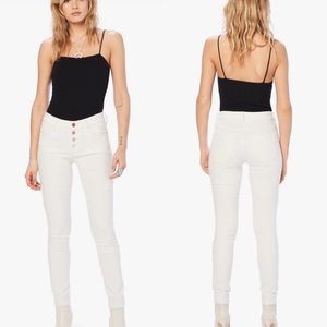 Mother The Pixie Jean in White NWT